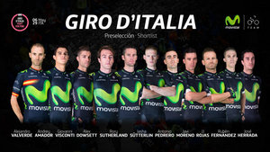 Movistar team preselecciona a once corredores para disputar el Giro