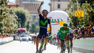 El Movistar Giovanni Visconti, primer líder en Toscana tras un brillante final en Montecatini,