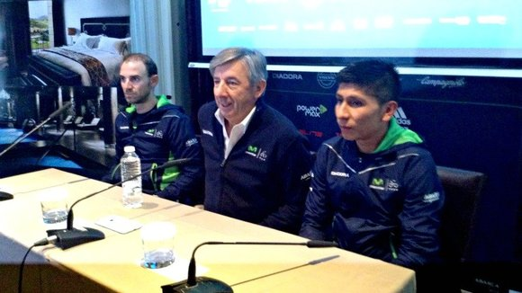 Rueda de prensa de Movistar Team.