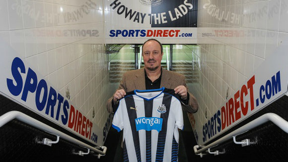 Rafa Benítez en el estadio del Newcastle. Web Newcastle.