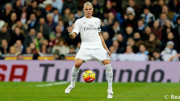 Pepe es defensa del Real Madrid. Web R. Madrid.