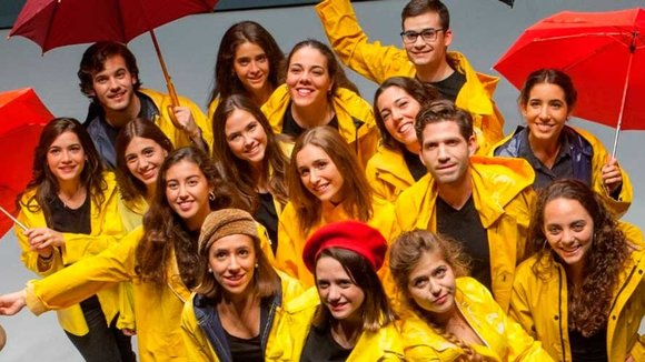 Protagonistas de Singing in the rain que actuarán con motivo del Fair Saturday 2016 en el Museo de la Universidad de Navarra. UNAV
