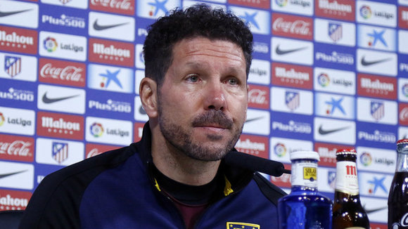 Diego Simeone en rueda de prensa. At. Madrid.