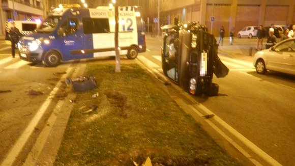 Insólito accidente en Pamplona. PMUNICIPAL