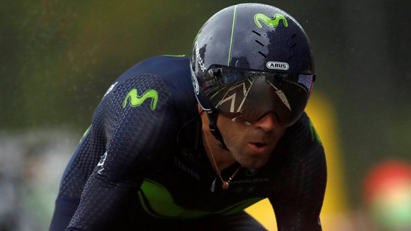 Tour de France 2017 - 104th Edition - 1st stage Dusseldorf - Dusseldorf 14 km - 01/07/2017 - Alejandro Valverde (ESP - Movistar) - photo Luca Bettini/BettiniPhoto©2017