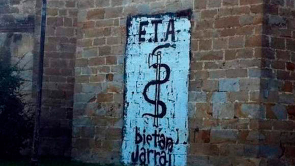 Graffiti a favor de ETA EFE