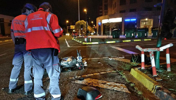 Accidente mortal de un motorista en Pamplona POLICÍA FORAL