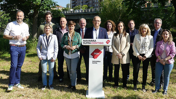 Los candidatos de Navarra Suma en Pamplona. EUROPA PRESS