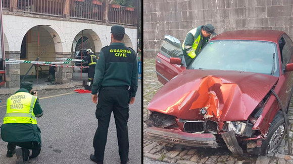 Accidente ocurrido en el casco urbano de Roncal GUARDIA CIVIL