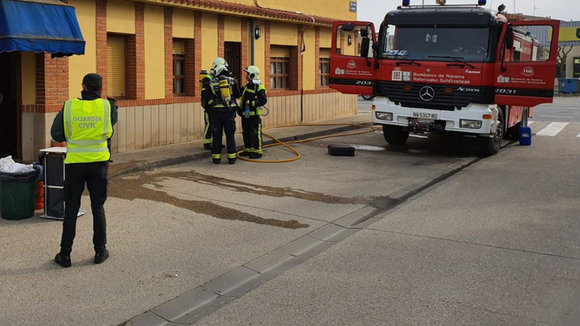 Incendio en un restaurante de Peralta GUARDIA CIVIL