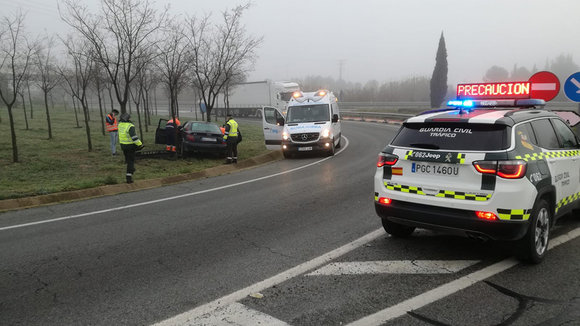 Accidente de circulación ocurrido en Tudela. GUARDIA CIVIL