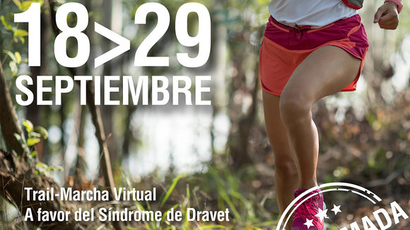 Cartel oficial de la V Dravet Trail Virtual 2020.Cedida.