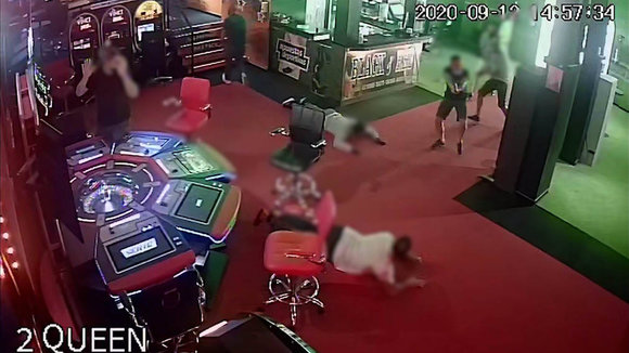 Imagen del  intento de atraco en un casino de Tenerife. GUARDIA CIVIL