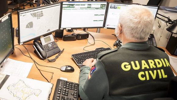 Un agente de la Guardia Civil. GUARDIA CIVIL DE NAVARRA