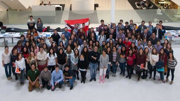Los 230 estudiantes extranjeros de la Facultad de Económicas celebran el 'International Day'