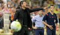 Diego Simeone entrena al At. Madrid. EFE.