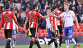 Partido Bilbao Athletic - Zaragoza (0-1).