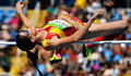 . Rio De Janeiro (Brazil), 18/08/2016.- Ruth Beitia of Spain competes during the women's High Jump qualification of the Rio 2016 Olympic Games Athletics, Track and Field events at the Olympic Stadium in Rio de Janeiro, Brazil, 18 August 2016. (Atletismo, España, Brasil) EFE/EPA/FRANCK ROBICHON