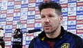 Diego Simeone en rueda de prensa. Foto web At. Madrid.