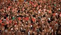 People take part in a protest against sexual violence against women during the San Fermin festival in Pamplona, northern Spain, July 7, 2016. REUTERS/Susana VeraCODE: X01622