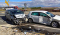 Accidente con tres vehículos implicados en la N-122 GUARDIA CIVIL