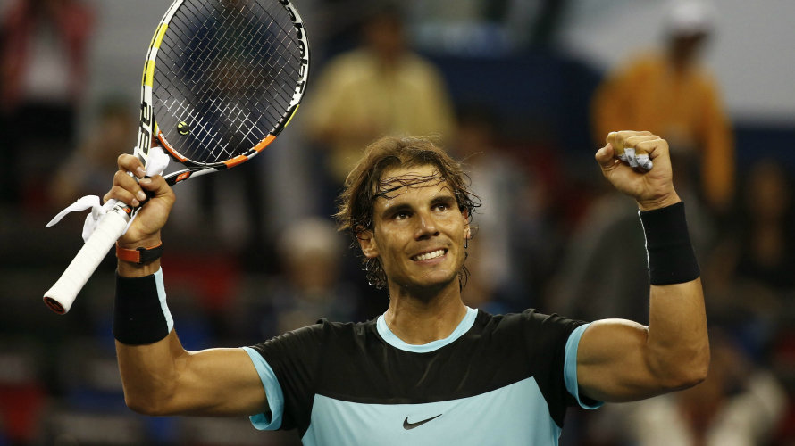 Rafa Nadal recupera su mejor nivel en China. EFE.
