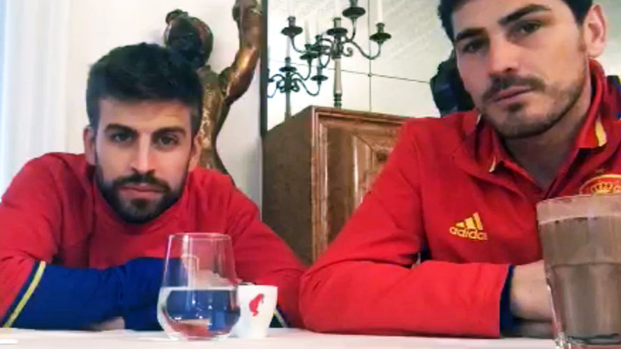 Piqué y Casillas en Periscope