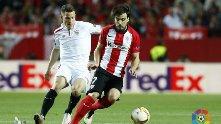 Partido europeo Sevilla - Athletic. Lfp.