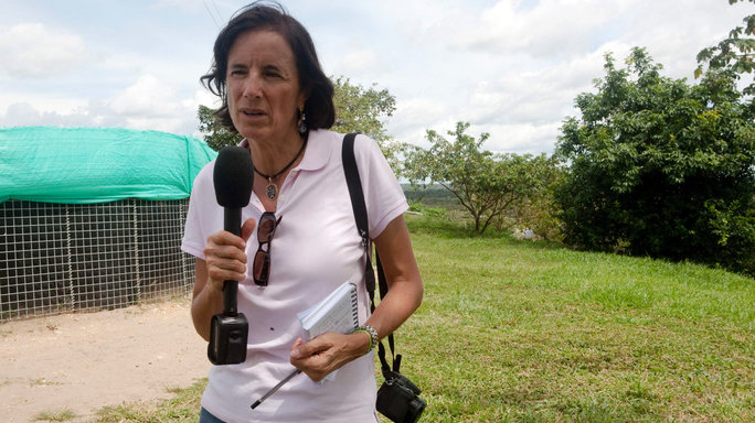 Undated file picture of Spanish journalist Salud Hernandez, columnist for the Colombian newspaper El Tiempo and correspondent for the Spanish newspaper El Mundo, who went missing in El Tarra, Colombia on May 21, 2016. The Colombian armed forces began