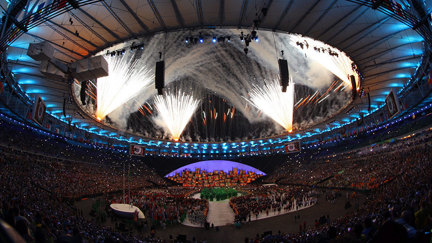 2016 Rio Olympics - Opening ceremony - Maracana - Rio de Janeiro, Brazil - 05/08/2016. Fireworks explode.                  REUTERS/Brian Snyder FOR EDITORIAL USE ONLY. NOT FOR SALE FOR MARKETING OR ADVERTISING CAMPAIGNS.  CODE: X90051