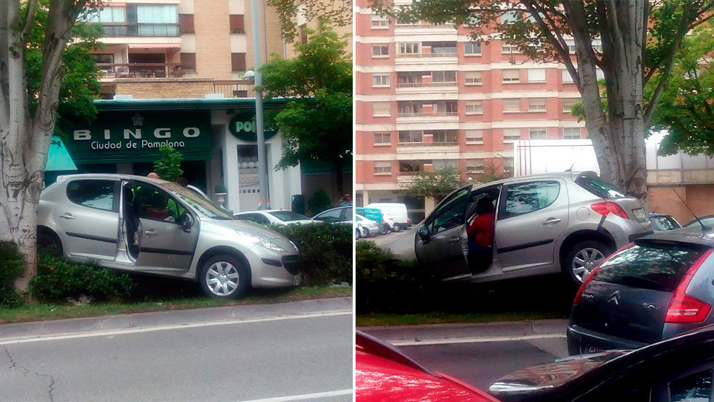 Accidente en avenida Sancho el Fuerte de Pamplona NAVARRACOM