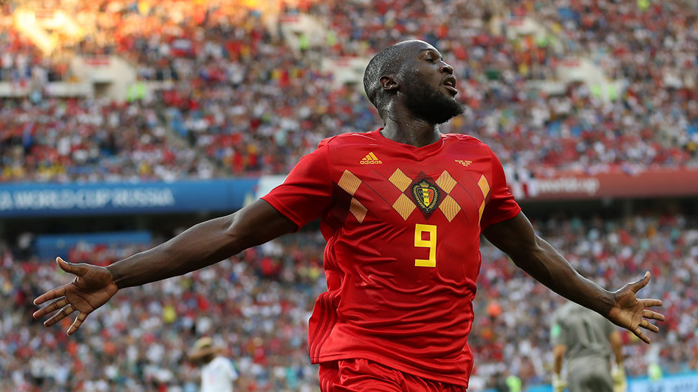 Sochi (Russian Federation), 18/06/2018.- Romelu Lukaku of Belgium celebrates after scoring the 3-0 goal during the FIFA World Cup 2018 group G preliminary round soccer match between Belgium and Panama in Sochi, Russia, 18 June 2018.