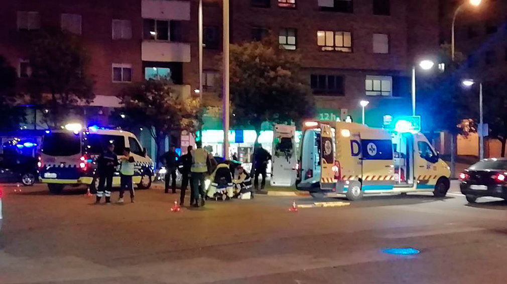 Atropello a un ciclista en la plaza Europa. NAVARRACOM