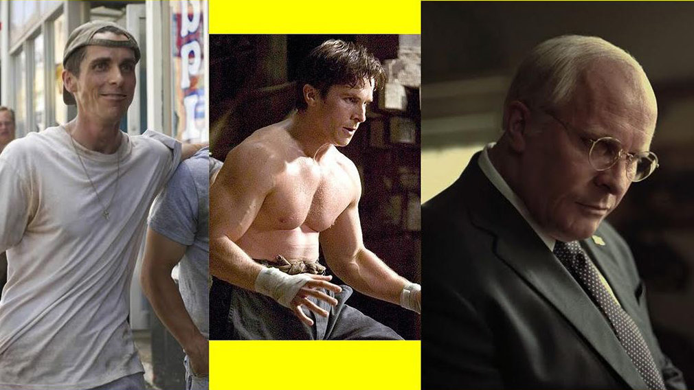 Tres interpretaciones diferentes del actor Christian Bale.