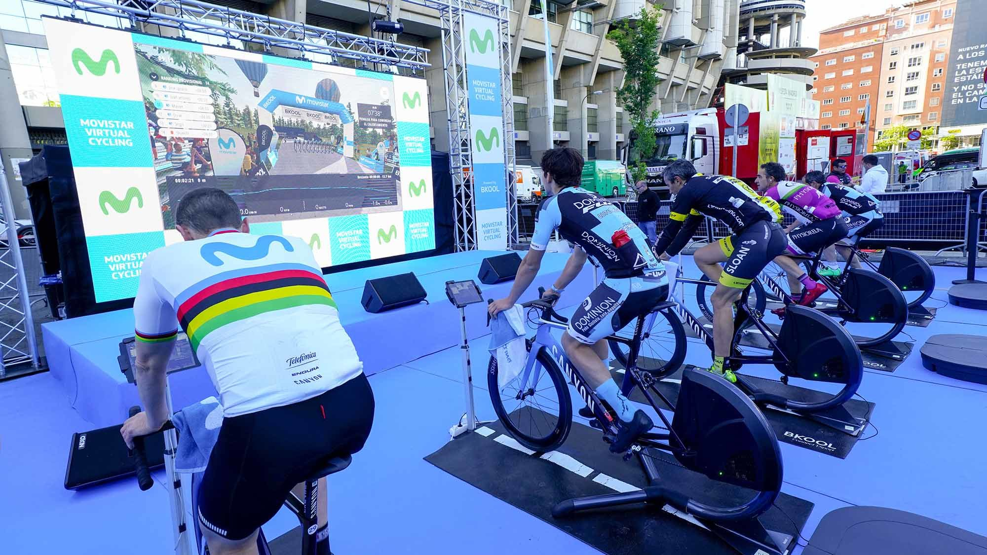 Imagen del Movistar Virtual Cycling celebrado en Madrid. CEDIDA