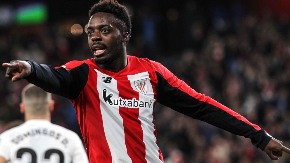 Iñaki Williams, jugador del Athletic de Bilbao, durante un partido de Liga reciente. EFE.