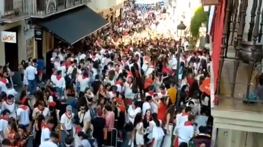 No debe pasar en San Fermín: terrible descontrol en Irún