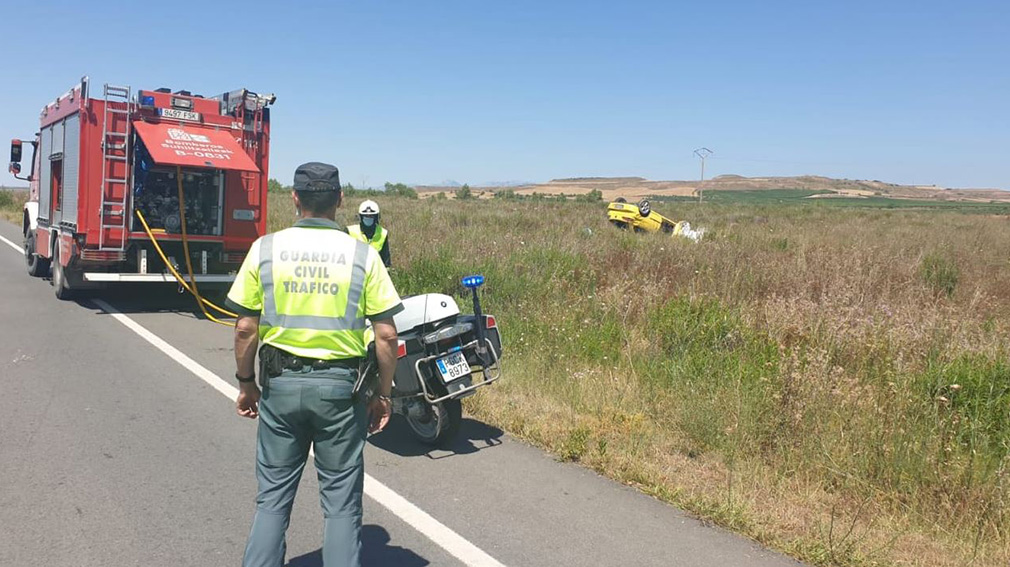 Accidente de tráfico en Viana GUARDIA CIVIL